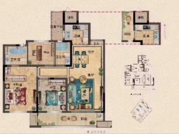 出售翠湖春天3室2厅1卫90平米128万住宅