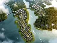 融创.森山半岛 深塘湖畔,绿水印青山,空气清晰,适合居住。